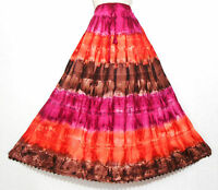 New Stunning Tie Dye Hippy Gypsy Long Skirt Beach Boho Size 10 12 14 16 18 20