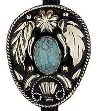 NEW! Western German Silver & Turquoise Bolo Tie