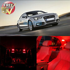 Error Free Red LED Lights Interior Package 8 Pieces Fit For Audi A5 S5 Canbus