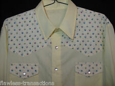 HANDMADE Men's Long Sleeved Western Pearl Snap Square Dancing Shirt Size XL NEW