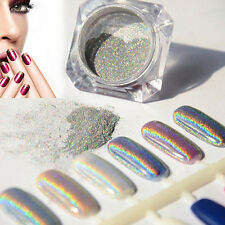 Neu Holographic Nagel Pigment Puder Pulver Mirror Powder Nail Art Chrome Glitter