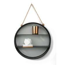 Round Metal Wall Shelf Display Bookshelf Showcase Living Lounge Room Bedroom