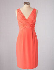 NWT ORG $218 BODEN COCKTAIL PARTY GUAVA CORAL SILK SASSY DRESS WH479 SIZE US 10R