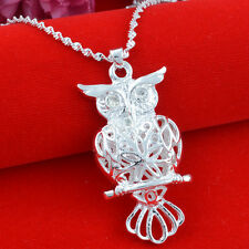 Jewelry Fashion 925 silver owl Pendant  gift for women N-226