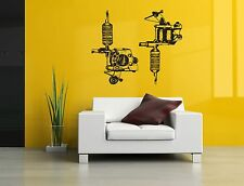 Wall Decor Vinyl Sticker Mural Poster Tattoo Parlor Gun Machine Ink Salon SA1149