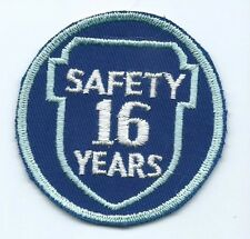 Greyhound Bus, driver patch, 16 Safety Years. 3 inch diameter