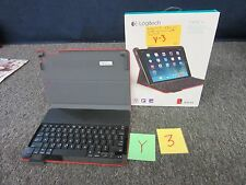 LOGITECH IPAD AIR CASE COVER KEYBOARD TYPE+ 820-006921 RED BLUETOOTH TABLET NEW