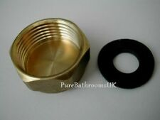 "WASHING MACHINE 3/4"" Inch BRASS BLANKING END CAP NUT COVER & WASHER STOP CAP"