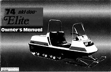 Ski-Doo owners manual book 1974 Élite