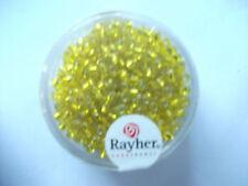 Rayher Rocailles mit Silbereinzug 16 gramm 2,6 mm gelb Bastelperlen