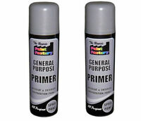 2 x General Purpose Primer Spray Paint Interior Exterior Wood Metal DIY White