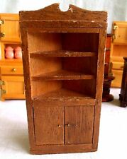 Dollhouse Miniature Corner Cabinet Furniture Dollhouse Wood Cabinet Doll Doors