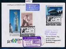 66825) LH SF Wien - Frankfurt - NAPOSTA 21.5.2001, Zudruck GAU