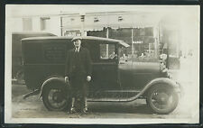 Rare IL Chicago SNAPSHOT '32 GENERAL CIGAR CO. DELIVERY TRUCK & Driver WHITE OWL