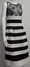 ladies Guess Los Angeles black and white dress lace bust detail US S UK 8 EU 36