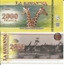 LA SAVANNA BILLETE 2000 FRANCS 2015