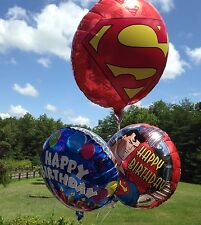 "Superman superhero HAPPY BIRTHDAY party foil mylar 18"" BALLOON Lot 17 pieces"