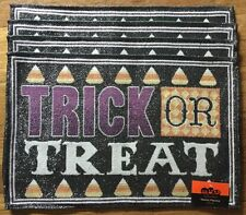 NWT Set Of 4 Halloween Candy Corn Fabric Tapestry Table Placemats 13 X 19 Inch