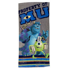 "DISNEY MONSTER INC Mike Sulley Kids Beach Towel Pool Bath 100% COTTON  28""X58"""