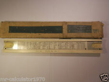 RARE BAMBOO SUN HEMMI NO. 64 SYSTEM RIETZ SLIDE RULE JAPAN FF (CALCULATOR )