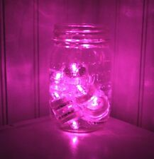 10 PINK SUPER Bright LED Tea Light Submersible Floralyte Party Wedding decor