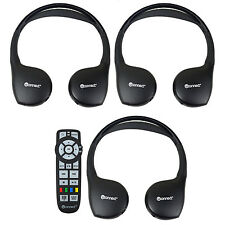 3 New Headphones Headsets UConnect Wireless + Dvd Remote Town & Country Caravan