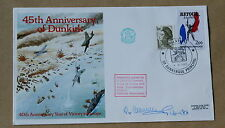 DUNKIRK 45TH ANNIVERSARY 1985 COVER SIGNED BY Lt CoL R H CAMRASS