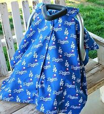 dodgers and royal blue cotton canopy cover for infant car seat w/ or w/out open