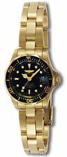Invicta 8943 Women's Pro Diver Black Dial Gold Tone Watch
