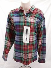 Womens Vintage Panhandle Slim Cotton Plaid Button Up Shirt Large L New NWT