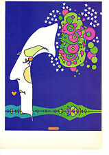 Vintage Peter Max Poster Print, 1960s Psychedelic Flower Power Midnight Dream