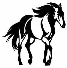 HORSE TROTTING STICKER DECAL, BRAND NEW FOR CAR, FLOAT, TACK, 4WD #H271