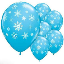 12X Christmas Latex Balloon Birthday Party Supplies Decorations Frozen Snowflake