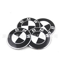 4x 56mm Black BMW Auto Car Wheel Center Hub Cap Emblem Badge Decal Sticker for