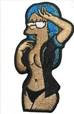 Black Marge Simpson Hair Down iron-on Patch