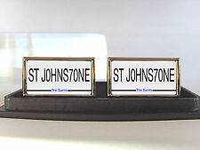 ST JOHNSTONE NUMBER PLATE STYLE BADGE MENS CUFFLINKS CUFF LINKS GIFT