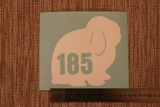3 x Wheelie Bin Numbers Mini Lop Rabbit Bunny House Number Sticker Recycle Sign