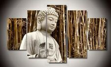 Unframed 5 Panel Modern Abstract Canvas Wall Art Buddha Painting for Home Decor