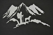 60CM X 33CM MOTORHOME RV TRAILER CARAVAN CAMPER TRUCK MOUNTAIN DOG STICKER DECAL