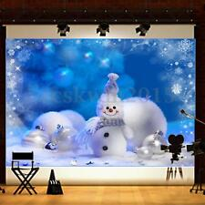 7X5FT Christmas Winter Snowman Studio Photography Backdrop Vinyl Background Prop