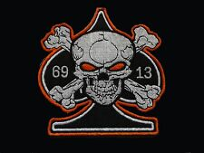 Great New Biker Outlaw Rocker Rockabilly Goth Cafe Racer 13 69 Ace Skull Patch
