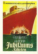 PHOTOGLOB  ZURICH  ADVERTISING  POSTCARD  -  SHIPPING LINE  -  NORDDEUTSCHER