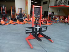 Straddle Hand Pallet Stacker, Manual pump,1000kg/1.6m, Wide Hydraulic Lifter