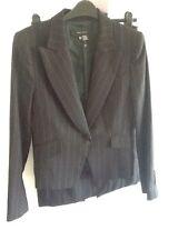 Zara nouvelle laine mix noir bande rouge sur mesure combinaison femme jupe veste UK12/Eur40