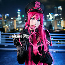 VOCALOID LUKA 100CM Long Magenta Straight Women Anime Party Cosplay Hair Wig