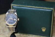ROLEX MENS WATCH OYSTER PERPETUAL DATE 1500 18K STAINLESS NO RESERVE AUCTION 196