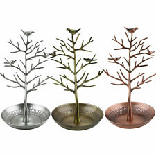 Retro Bird Tree Jewelry Earrings Ring Stand Holder Show Rack Necklace Display EA