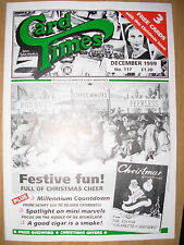 CARD TIMES MAGAZINE FORMERLY CIGARETTE CARD MONTHLY No 117 DECEMBER 1999