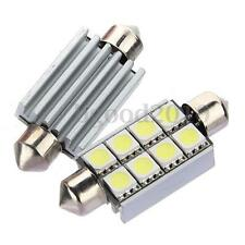 42mm 8 SMD 5050 LED 3W White Canbus Error Free Number C5W Festoon Dome Light 12V