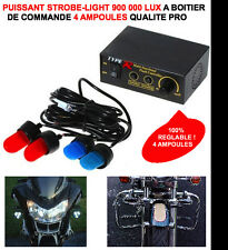 PROMO! HYPER PUISSANT STROBE LIGHT 900 000 LUX 4 AMPOULES MOTO TMAX SCOOTER FILE